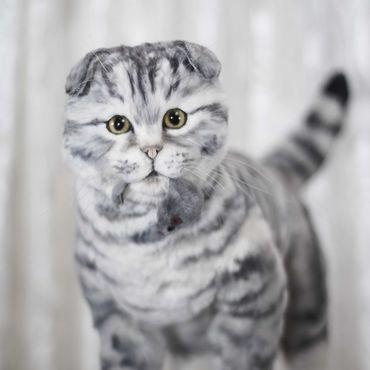 Куклы и игрушки ручной работы. Ярмарка Мастеров - ручная работа Шотландская вислоухая кошка в стиле тедди натюр. Handmade.
