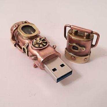 """Сувениры и подарки ручной работы. Ярмарка Мастеров - ручная работа Флешка """"Generator"""" 32 Gb USB 3.0. Handmade."""