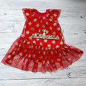 Платья ручной работы. Ярмарка Мастеров - ручная работа Платье Красная снежинка. Handmade.