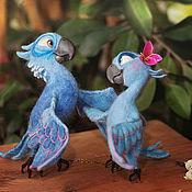 Мягкие игрушки ручной работы. Ярмарка Мастеров - ручная работа Попугайчики из Рио:). Handmade.