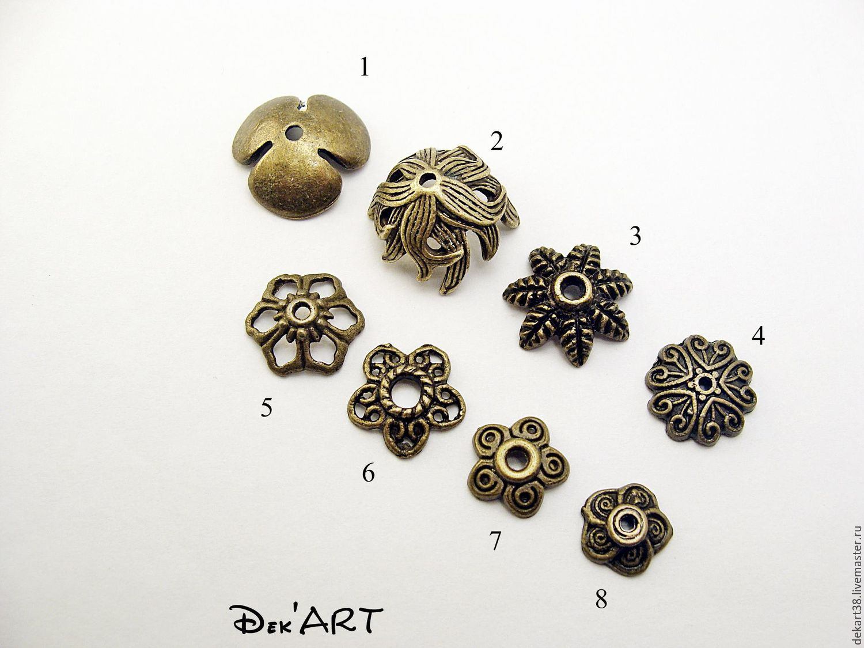 Bead caps in stock Art. ShB01, Accessories4, Irkutsk,  Фото №1