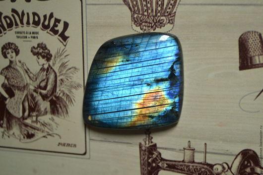Для украшений ручной работы. Ярмарка Мастеров - ручная работа. Купить Лабрадорит спектролит. Кабошон 60 Х 49 Х 5. Handmade.