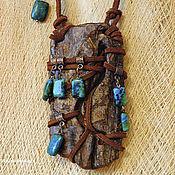 Украшения handmade. Livemaster - original item pendant made of wood oak Bay with Jasper. Handmade.