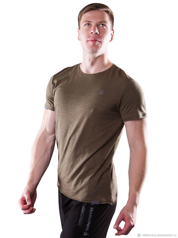 Мужская футболка «Великоросс» цвета хаки, Футболки, Санкт-Петербург, Фото №1