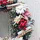 Новый год 2017 ручной работы. Заказать Рождественский венок. Cadeaux de Noёl. Ярмарка Мастеров. Рождественский венок, украшение интерьера