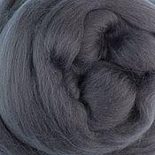 Материалы для творчества handmade. Livemaster - original item Merino шерсть18 µm, Italy, Extra fine, 50 gr., Thunderstorm, dark grey. Handmade.