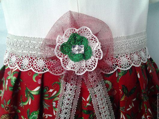 """Одежда для девочек, ручной работы. Ярмарка Мастеров - ручная работа. Купить Платье для девочки """"Принцесса Нового года"""" ассиметрия. Handmade."""