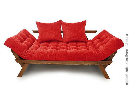 Мебель ручной работы. Ярмарка Мастеров - ручная работа. Купить Диван Otman. Handmade. Мебель из сосны, ярко-красный
