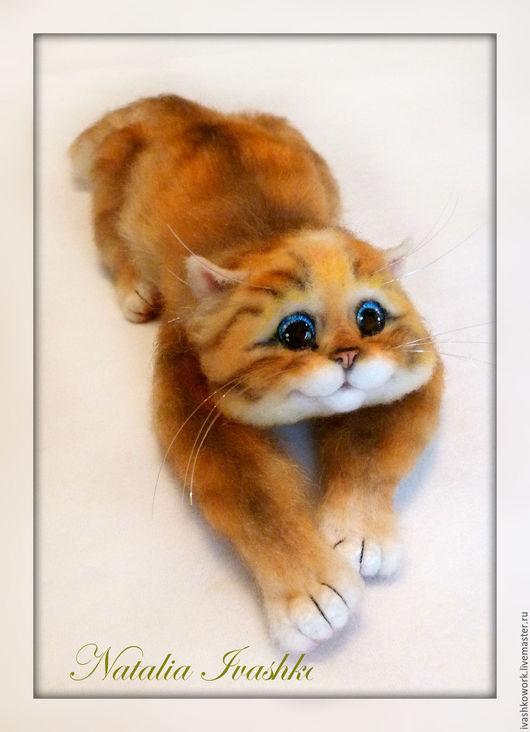 Игрушки животные, ручной работы. Ярмарка Мастеров - ручная работа. Купить Мой Мышонок). Handmade. Кот, рыжий цвет, шерсть