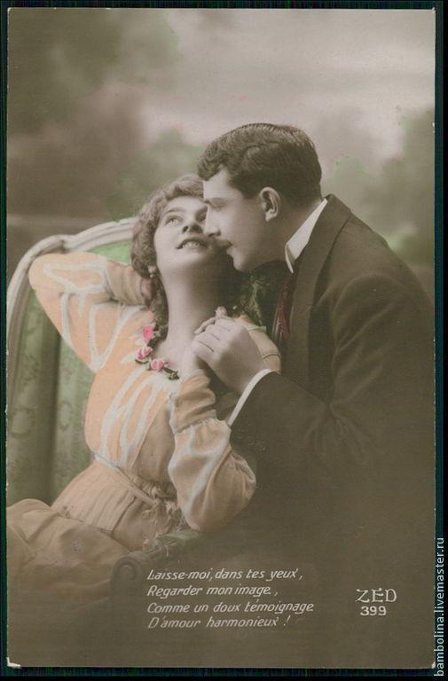 """Винтажные предметы интерьера. Ярмарка Мастеров - ручная работа. Купить Антикварная открытка-фотография из коллекции """"Art Deco romance"""". Handmade."""