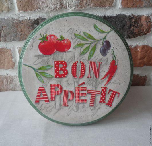 """Кухня ручной работы. Ярмарка Мастеров - ручная работа. Купить Панно  """" Bon appetit"""". Handmade. Мятный, панно на стену"""