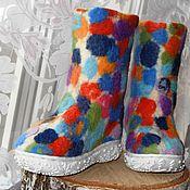 """Обувь ручной работы. Ярмарка Мастеров - ручная работа Валенки детские """"Конфетти"""". Handmade."""