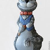 """Куклы и игрушки ручной работы. Ярмарка Мастеров - ручная работа Неваляшка """"Серый"""". Handmade."""
