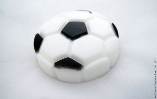 Мыло ручной работы. Ярмарка Мастеров - ручная работа. Купить Футбольный мяч. Handmade. Чёрно-белый, мяч, сувениры и подарки