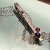 """Украшения ручной работы. Ярмарка Мастеров - ручная работа Кулон-галстук  """"Капельки"""". Handmade."""