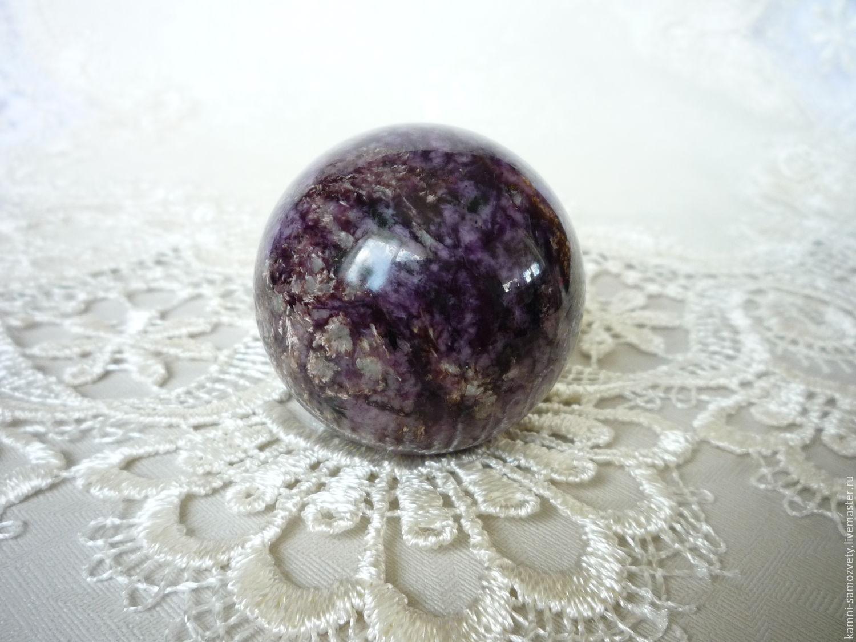 Ball from charoite, Ball, Irkutsk,  Фото №1