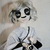 Куклы и игрушки ручной работы. Ярмарка Мастеров - ручная работа Панда в кимоно. Фарфоровая шарнирная кукла. Handmade.