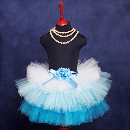 """Юбки ручной работы. Ярмарка Мастеров - ручная работа. Купить """"Мечты Принцессы"""" голубая юбка-пачка из фатина. Handmade. пачка"""