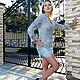 Платья ручной работы. Ярмарка Мастеров - ручная работа. Купить Платье вязаное Серебрянные бабочки. Handmade. Серый, платье крючком