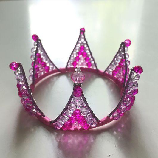 Детская бижутерия ручной работы. Ярмарка Мастеров - ручная работа. Купить Розовая Корона. Handmade. Корона, корона из проволоки, аксессуар
