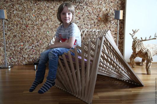 Мебель ручной работы. Ярмарка Мастеров - ручная работа. Купить Дизайнерское кресло-трансформер. Handmade. Бежевый, кресло, дизайнерская мебель