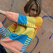 Одежда ручной работы. Ярмарка Мастеров - ручная работа Джемпер Яркие полоски. Handmade.