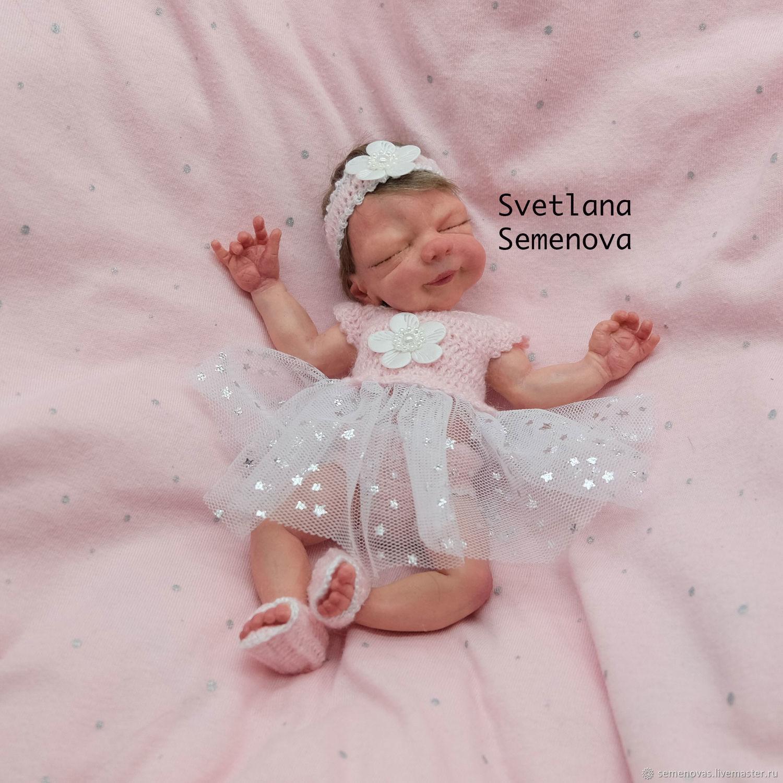 Полностью силиконовая мини девочка Марина 18 см, Куклы и пупсы, Москва,  Фото №1