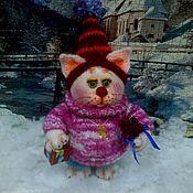 Куклы и игрушки ручной работы. Ярмарка Мастеров - ручная работа Кот  торжественно-поздравительный.. Handmade.