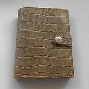 Сумки и аксессуары handmade. Livemaster - original item Purse in genuine leather embossed crocodile. Handmade.