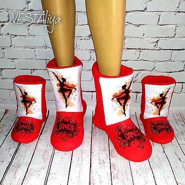Обувь ручной работы. Ярмарка Мастеров - ручная работа Разогревочные сапожки для танцев и гимнастики. Handmade.