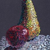 Картины и панно handmade. Livemaster - original item Painting acrylic. Pear with Apple. Handmade.