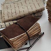 Блокноты ручной работы. Ярмарка Мастеров - ручная работа Книга для записей 85. Handmade.