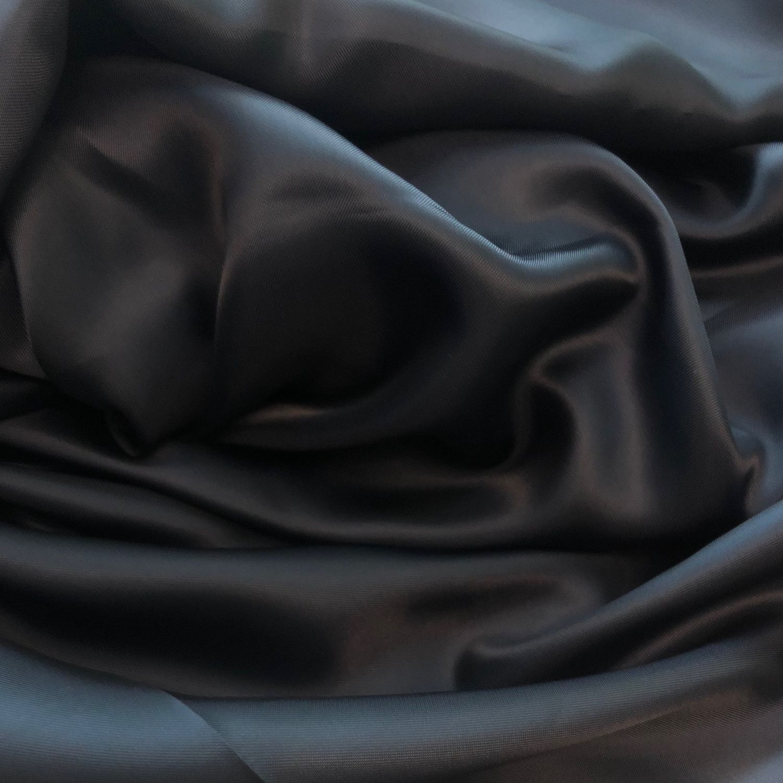 Подкладочная купра Bemberg темно-синяя, Ткани, Санкт-Петербург,  Фото №1