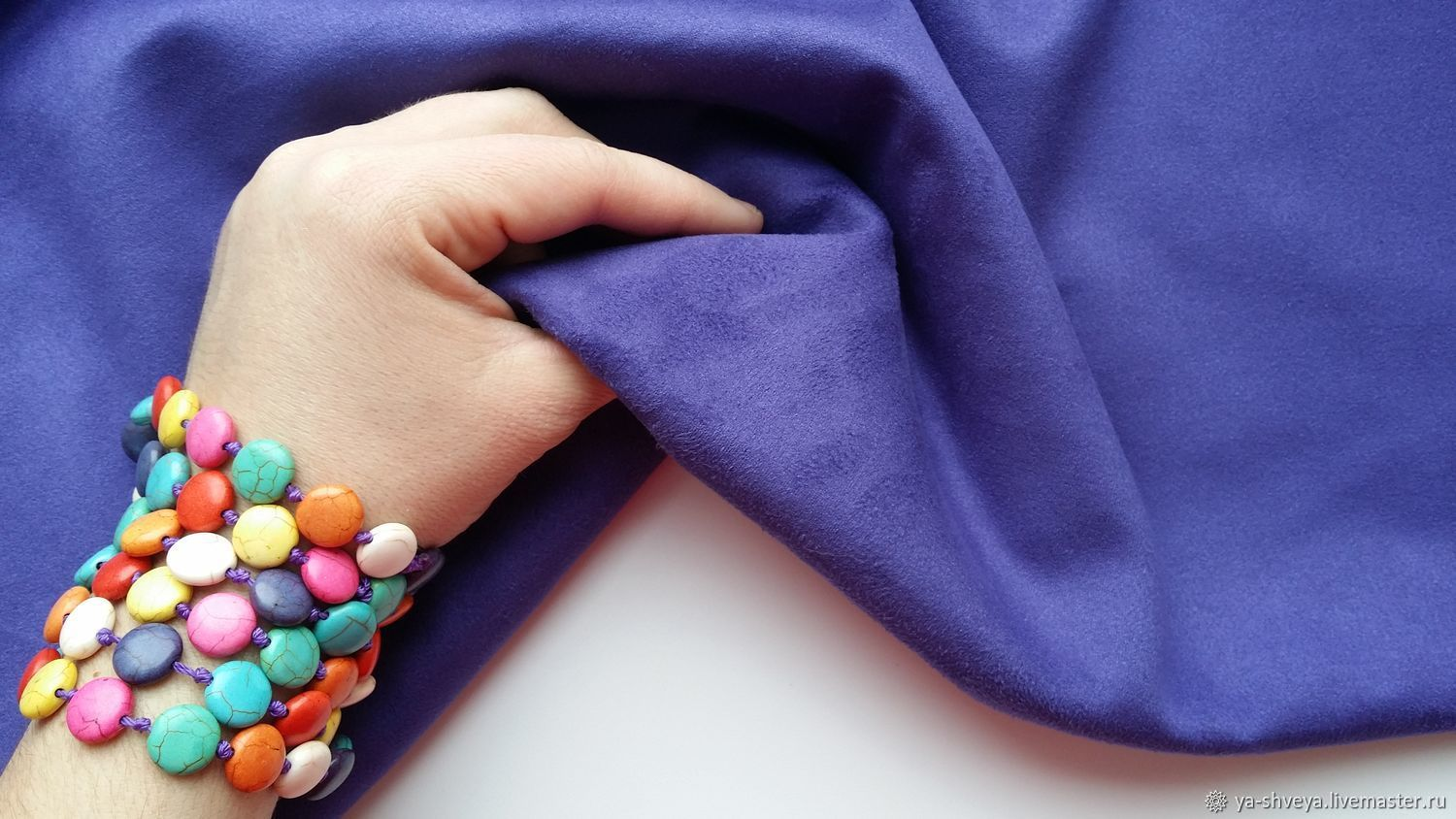 Suede-knit - ultraviolet, Suede, Moscow,  Фото №1