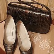 Сумка и туфли из лаковой кожи 36