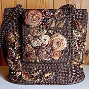 декор сумки кожаными лентами своими руками