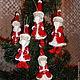Новый год 2017 ручной работы. Санта-Клаус. Елочные игрушки из папье-маше. Родионова Светлана. Интернет-магазин Ярмарка Мастеров.