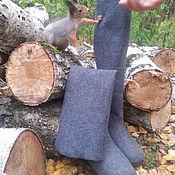 """Обувь ручной работы. Ярмарка Мастеров - ручная работа Валяные высокие сапоги """"Зимний серый"""". Handmade."""
