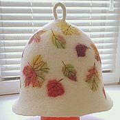 """Для дома и интерьера ручной работы. Ярмарка Мастеров - ручная работа Банная шапка """"Осень"""". Handmade."""