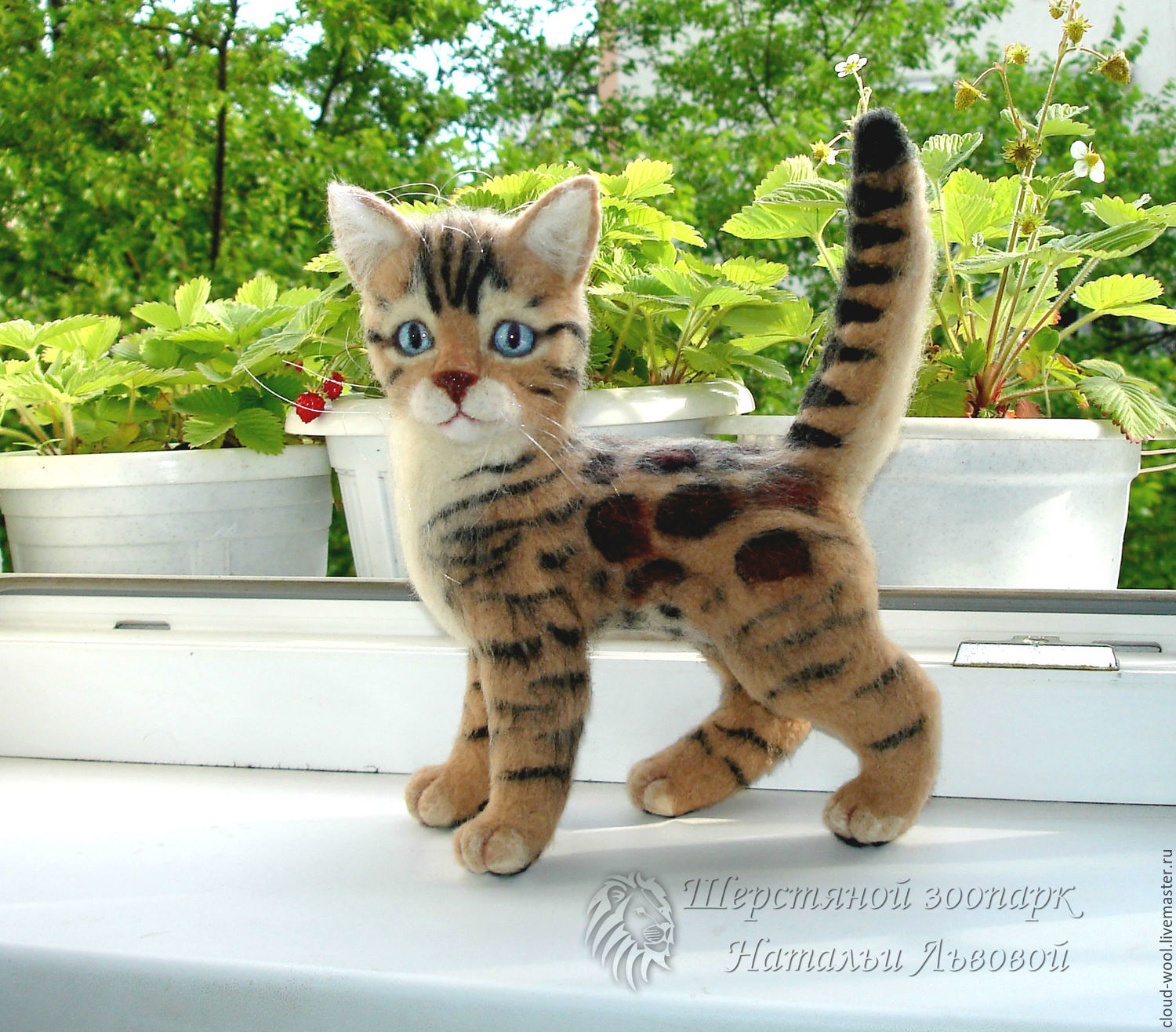 Kitten Bengal / felted toy made of wool / Bengal cat cat – shop ...