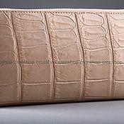 Сумки и аксессуары handmade. Livemaster - original item Cosmetic bag with crocodile leather one zipper IMA0032L4. Handmade.