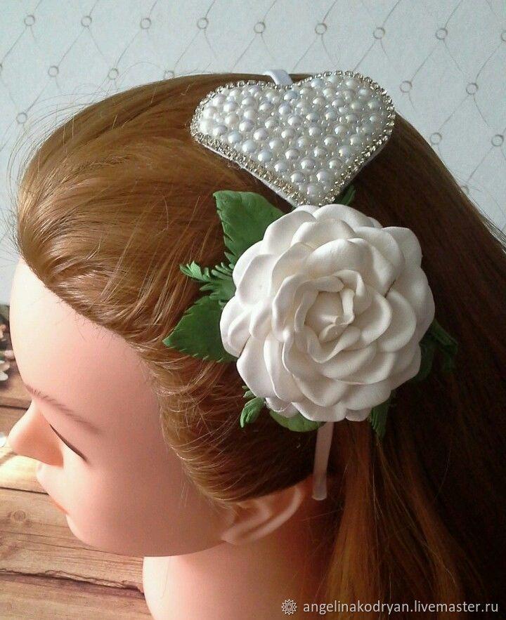 Dressy headband with rose and heart for New year, holiday, celebration, Headband, Belgorod,  Фото №1