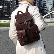 Сумки и аксессуары handmade. Livemaster - original item Brown backpack women`s leather Coconut Mod R12p-722-2. Handmade.