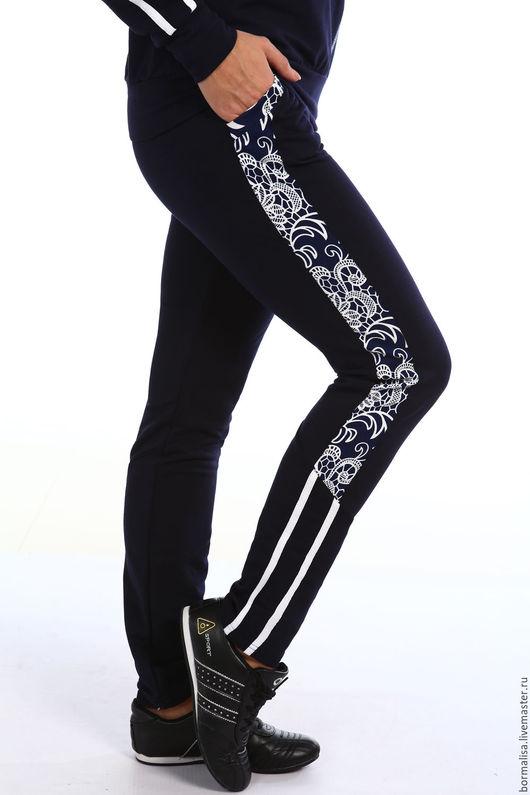 """Костюмы ручной работы. Ярмарка Мастеров - ручная работа. Купить Костюм """"LUCIA"""". Handmade. Тёмно-синий, спортивные брюки, большой размер"""