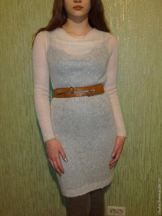 Платья ручной работы. Ярмарка Мастеров - ручная работа. Купить Платье-туника из кид-мохера. Handmade. Молочный белый, белый