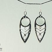 Украшения handmade. Livemaster - original item Mirror Wind Earrings (e-036-03). Handmade.
