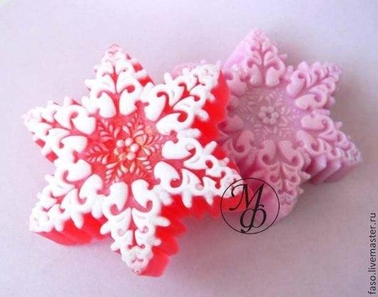 Другие виды рукоделия ручной работы. Ярмарка Мастеров - ручная работа. Купить Силиконовая форма Снежинка-5. Handmade. Розовый
