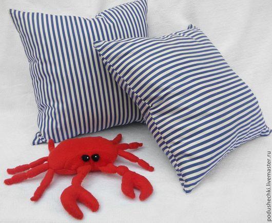 """Текстиль, ковры ручной работы. Ярмарка Мастеров - ручная работа. Купить Комплект """"Краб"""". Handmade. Синий, морской стиль, для интерьера"""