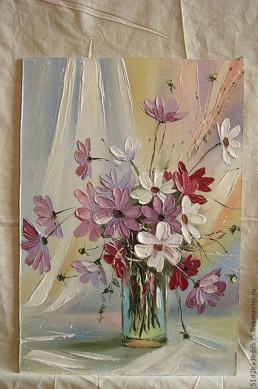 Картины цветов ручной работы. Ярмарка Мастеров - ручная работа. Купить летнее настроение. Handmade. Картина, картина маслом