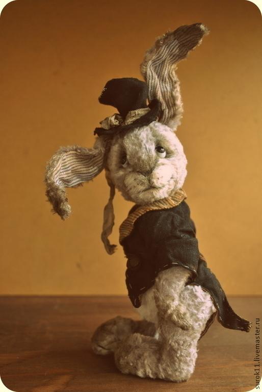 Мишки Тедди ручной работы. Ярмарка Мастеров - ручная работа. Купить Клаус. Handmade. Серый, коллекционные игрушки, заяц тедди